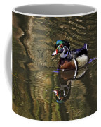 Wood Duck Autumn Reflections Coffee Mug