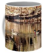 Wood Ducks Enjoying The Pond Coffee Mug