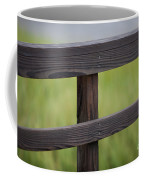 Wood Railing Over The Marsh Coffee Mug