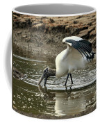 Wood Stork Fishing Coffee Mug