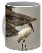Wood Stork Walking Coffee Mug