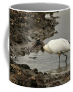 Wood Stork With Fish Coffee Mug