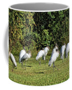 Wood Storks 2 - There Is Always One In A Crowd Coffee Mug