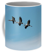 Wood Storks In Flight Coffee Mug
