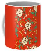 Woodblock Print Of Apple Blossoms Coffee Mug