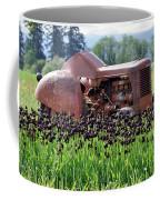 Woodburn Oregon - Tractor And Field Of Tulips Coffee Mug