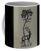 Woodcut Deer Coffee Mug