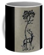 Woodcut Deer Coffee Mug