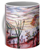 Wooded Beachfront With Fun Seekers Coffee Mug