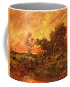 Wooded Landscape With A Faggot Gatherer Coffee Mug