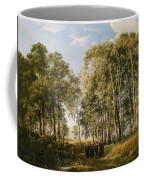 Wooded Landscape With A Group Of Figures In Costume Coffee Mug