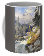 Wooded Landscape With A Path And A Mountain Beyond Coffee Mug