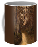 Wooded Landscape With Angler On The Riverside Coffee Mug