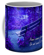 Wooden Bench With Inspirational Text Coffee Mug