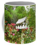 Wooden Bird House On A Pole 3 Coffee Mug