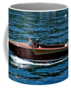 Wooden Boat Waves On Tahoe Coffee Mug
