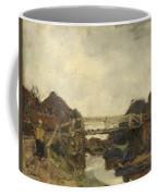Wooden Bridge Across A Canal At Rijswijk Coffee Mug