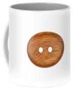 Wooden Button Coffee Mug