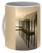 Wooden Dock In The Lake At Sunset Coffee Mug