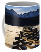 Wooden Fence And Sawtooth Mountain Range Coffee Mug