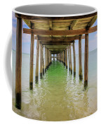 Wooden Pier Stretching Into The Sea Coffee Mug