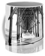 Wooden Post Under A Pier On The Beach Coffee Mug
