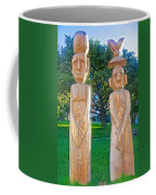 Wooden Sculptures In Central Park In Bariloche-argentina Coffee Mug