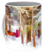 Wooden Shed In Winter Coffee Mug