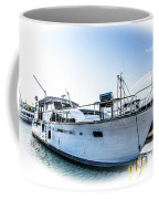Wooden Yacht In Mooring Coffee Mug