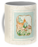 Woodland Fairy Tale - Deer Fawn Baby Bunny Rabbits In Forest Coffee Mug