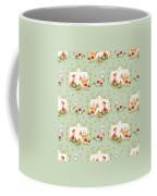 Woodland Fairy Tale - Mint Green Sweet Animals Fox Deer Rabbit Owl - Half Drop Repeat Coffee Mug