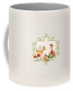Woodland Fairytale - Grey Animals Deer Owl Fox Bunny N Mushrooms Coffee Mug