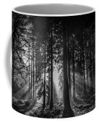 Woodland Walks Silver Rays B/w Coffee Mug