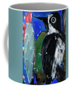Woodpecker With Prickly Pear Cactus  Coffee Mug