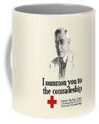 Woodrow Wison Red Cross Roll Call Coffee Mug