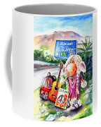 Woolhelmina The Scottish Sheep Playing Flamenco Coffee Mug