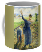 Workers In The Fields 1896-97 Camille Pissarro Coffee Mug