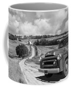 Down On The Farm- International Harvester In Black And White Coffee Mug