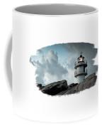 Working Lighthouse Isolated On White Coffee Mug