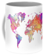 World Map Art Coffee Mug
