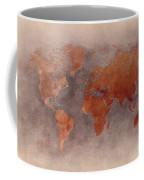 World Map Brown Coffee Mug