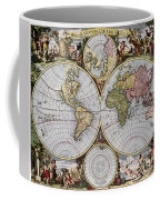 World Map, C1690 Coffee Mug