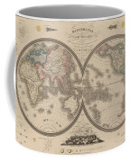 World Map Divided Into Two Hemispheres Coffee Mug