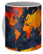 World Map - Elegance Of The Sun - Fractal - Abstract - Digital Art 2 Coffee Mug