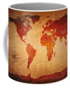 World Map Grunge Style Coffee Mug
