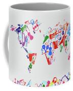 World Map Music 3 Coffee Mug
