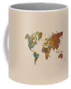 World Map Oriental Coffee Mug