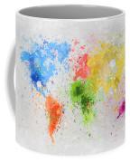 World Map Painting Coffee Mug