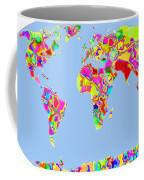 World Map Viscous Coffee Mug