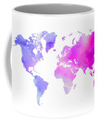 World Map Watercolor  Coffee Mug